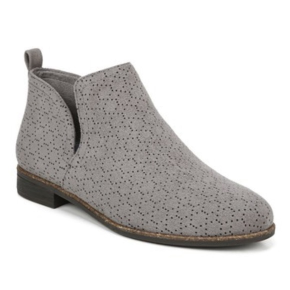 Dr. Scholl's Shoes - NEW Dr. Scholls Rate Perforated Block Heel Bootie